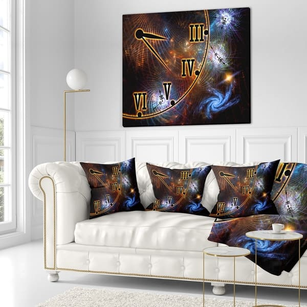 Designart Fabric Of Space And Time Abstract Throw Pillow On Sale Overstock 20948188