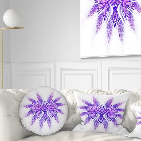 Shop Designart Bright Purple Unique Fractal Flower Abstract Throw Pillow Free Shipping On