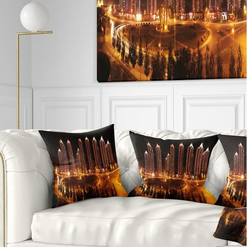 Designart 'Chinese Cities' Cityscape Photography Throw Pillow