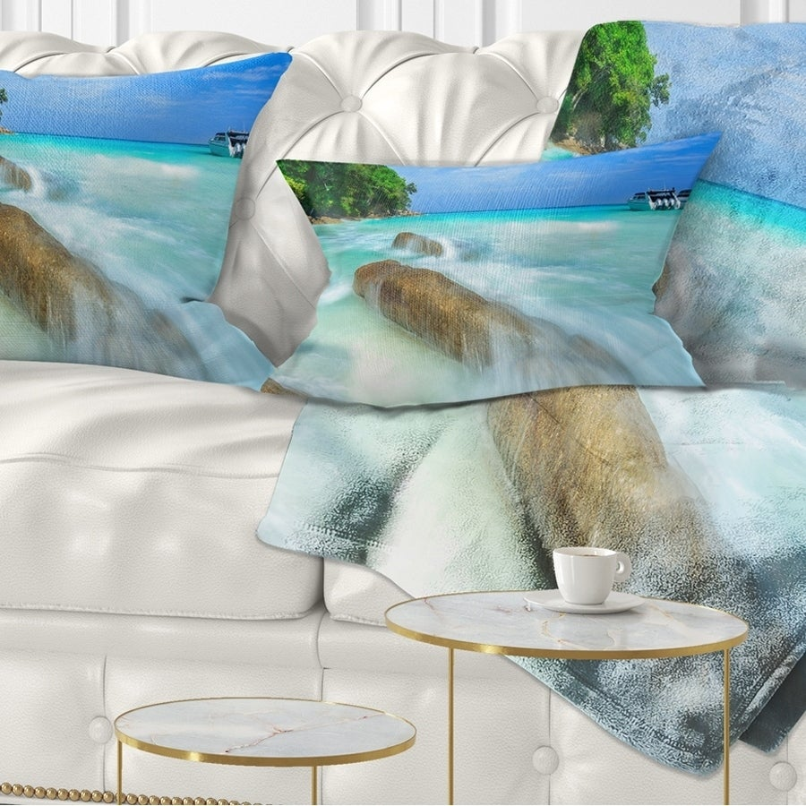 Designart Tachai Island In Thailand Landscape Photography Throw Pillow On Sale Overstock 20948364