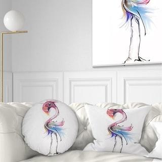 Designart 'Flamingo Illustration' Animal Throw Pillow
