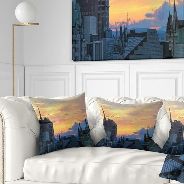 Designart 'Ottawa City Panoramic' Cityscape Photo Throw Pillow
