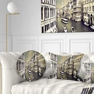 Designart 'Venice Cityscape' Photography Throw Pillow