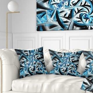Designart 'Blue Spiral Fractal Design' Abstract Throw Pillow