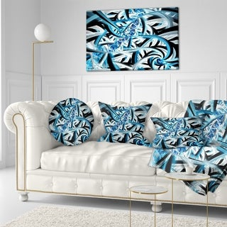 Designart 'Blue Spiral Fractal Design' Abstract Throw Pillow