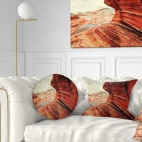 Designart 'Vermillion Cliffs Lake View' Landscape Printed Throw Pillow