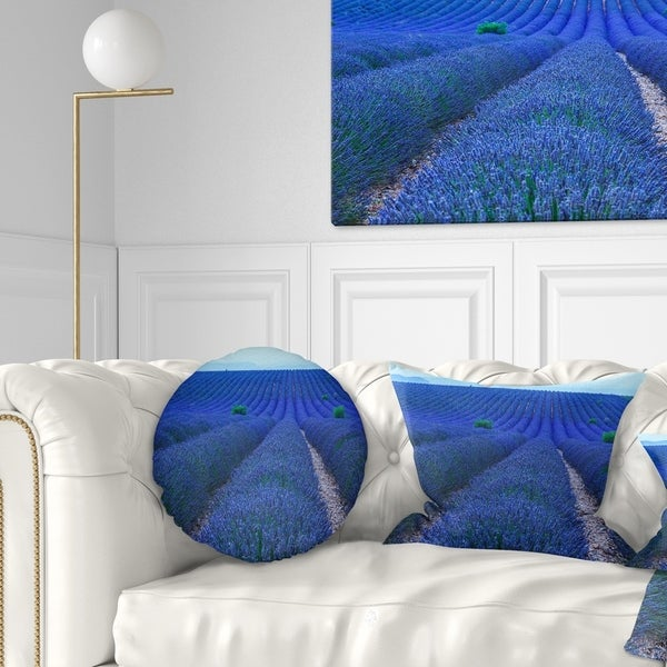 Designart Lavender Field Sunset Near Valensole Floral Throw Blanket On Sale Overstock 20915987 71 In X 59 In