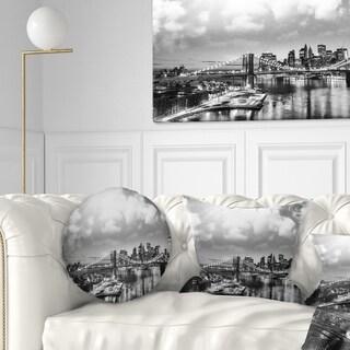 Designart 'Amazing Night in New York City' Cityscape Photo Throw Pillow