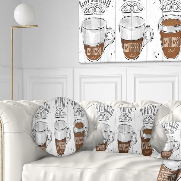 Designart 'Espresso Kraf Grey' Throw Pillow