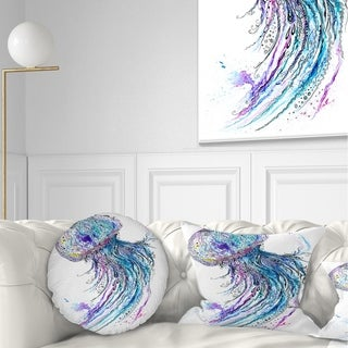Designart 'Jelly Fish Watercolor' Animal Throw Pillow