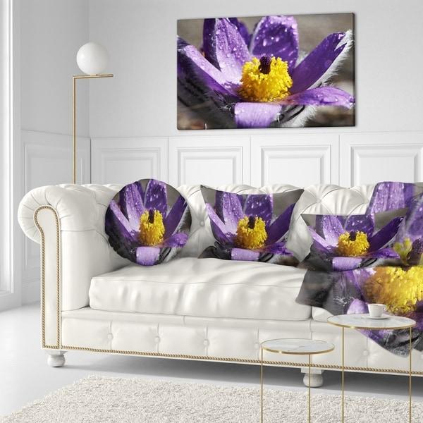 Shop Designart Purple Flower With Yellow Stigma Floral