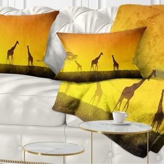 Designart 'African Sunset Aura' Landscape Printed Throw Pillow