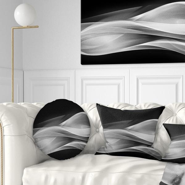 Designart 'Glittering Silver Pattern' Abstract Rectangle Medium Throw Pillow - 12 x 20 - (As Is Item)