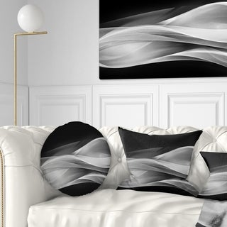 Designart 'Glittering Silver Pattern' Abstract Throw Pillow
