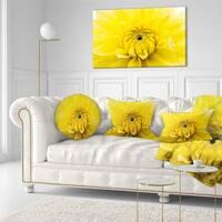 Designart 'Yellow Chrysanthemum Gold Flower' Flower Throw Pillow