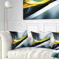 Designart 'Glittering Yellow Pattern' Abstract Throw Pillow
