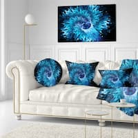 Designart 'Blue Magical Wormhole Fractal' Abstract Throw Pillow