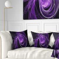 Designart 'Purple Ball of Yarn' Abstract Throw Pillow