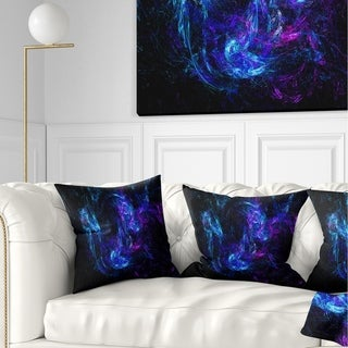 Designart 'Blue Chaotic Strokes' Abstract Throw Pillow