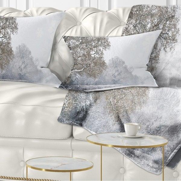 Designart Cu7769 26 26 Christmas Winter Snow Landscape Photography Throw Pillow 26 X 26 Throw Pillow Covers Home Kitchen