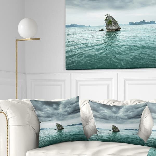 Designart Island Rock In Halong Bay Vietnam Seashore Throw Pillow On Sale Overstock 20949631