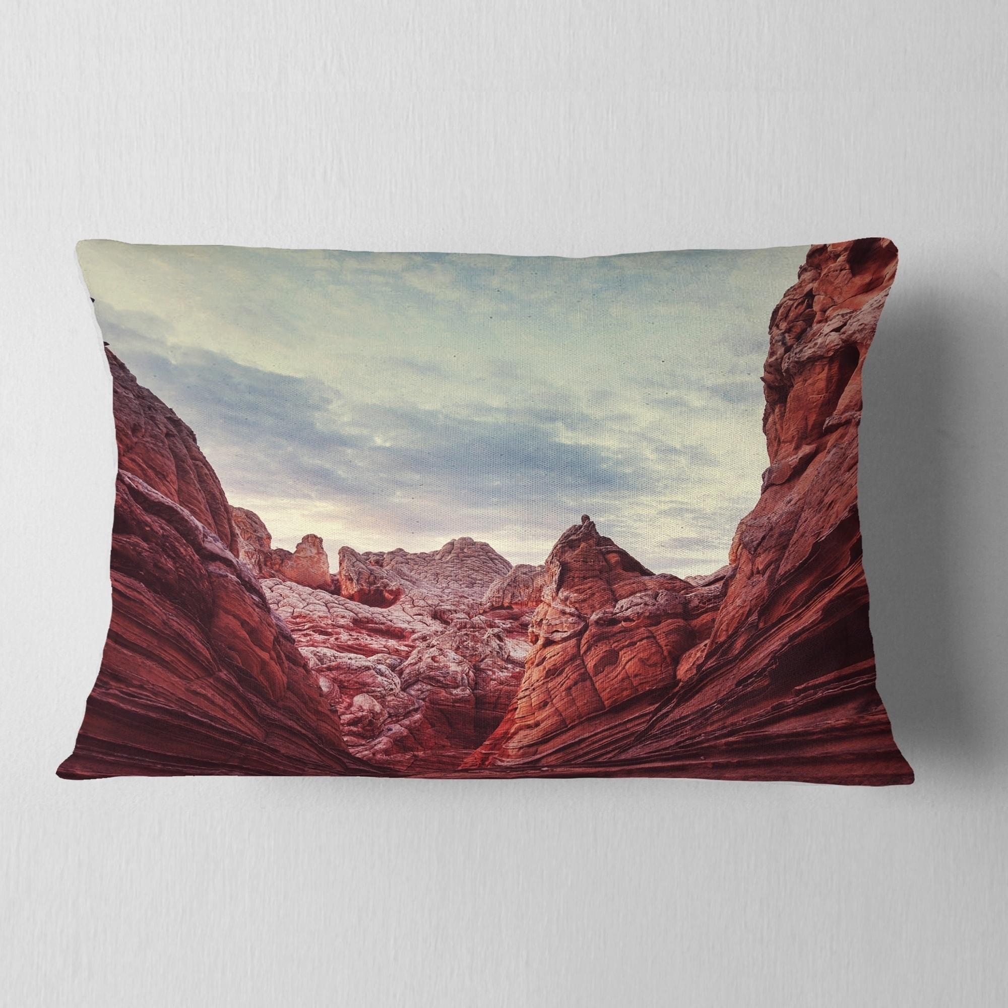 Designart Vermillion Cliffs National Monument Park Landscape Wall Throw Pillow On Sale Overstock 20949663