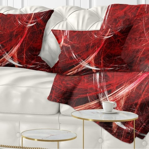Designart 'Swirling Clouds' Abstract Throw Pillow
