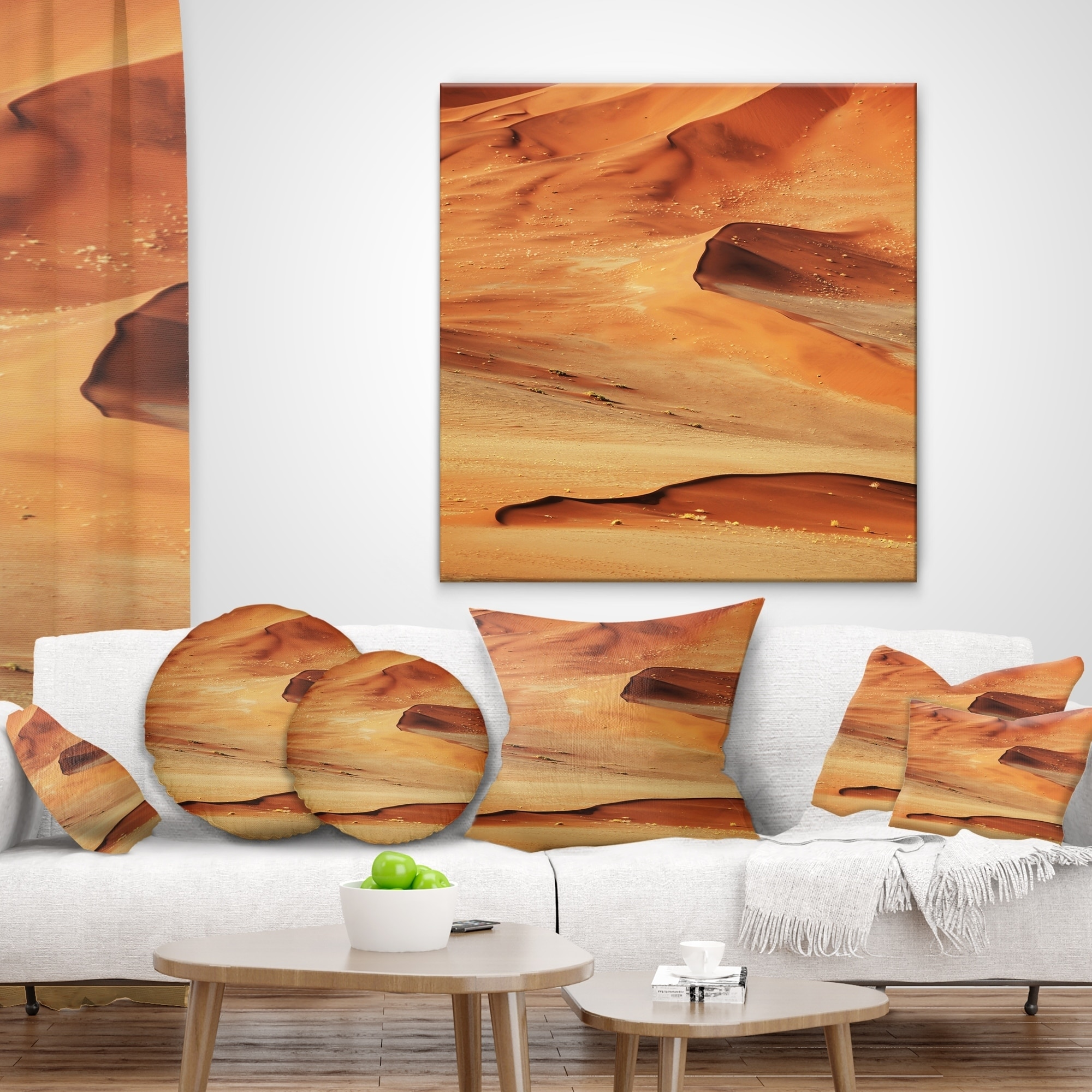Designart Beautiful Brown Sand Desert Landscape Wall Throw Pillow On Sale Overstock 20949729