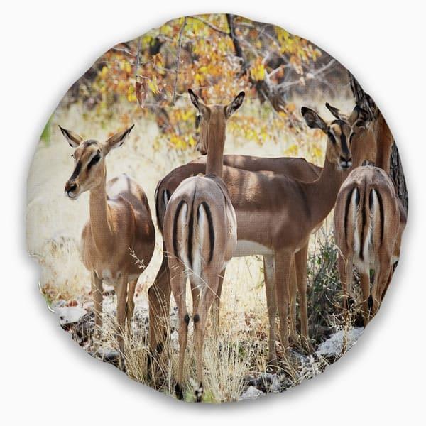 Designart Beautiful Herd Of Antelope Gnu African Throw Pillow On Sale Overstock 20949737