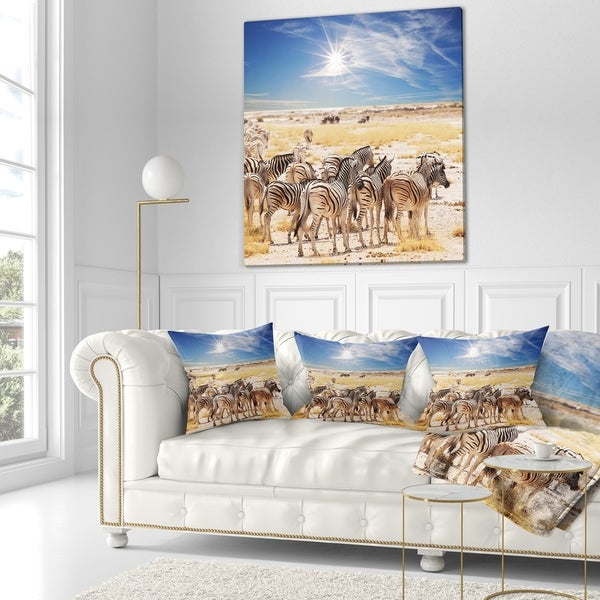 X 20 In In Insert Printed On Both Side Sofa Throw Pillow 12 In Designart Cu12817 12 20 Beautiful Herd Of Zebra On Bright Day African Wall Lumbar Cushion Cover For Living Room Decorative