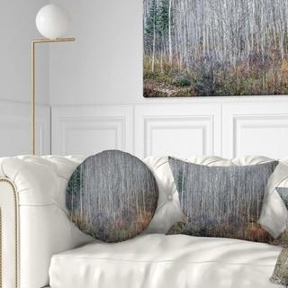 Designart 'Maroon Bells Mountain View' Modern Forest Throw Pillow