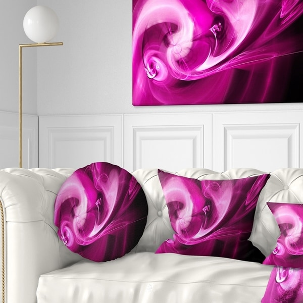 Designart 'Colored Smoke Spiral Purple' Abstract Throw Pillow