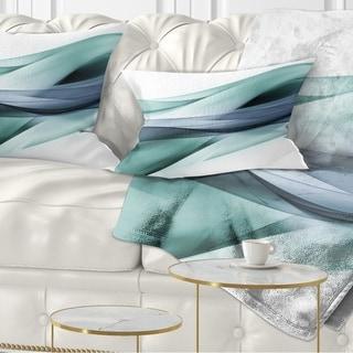 Designart 'Fractal Lines Grey Blue' Abstract Throw Pillow