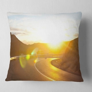Designart Blue Ice And Off Road Cars Landscape Printed Throw Pillow On Sale Overstock 20945236