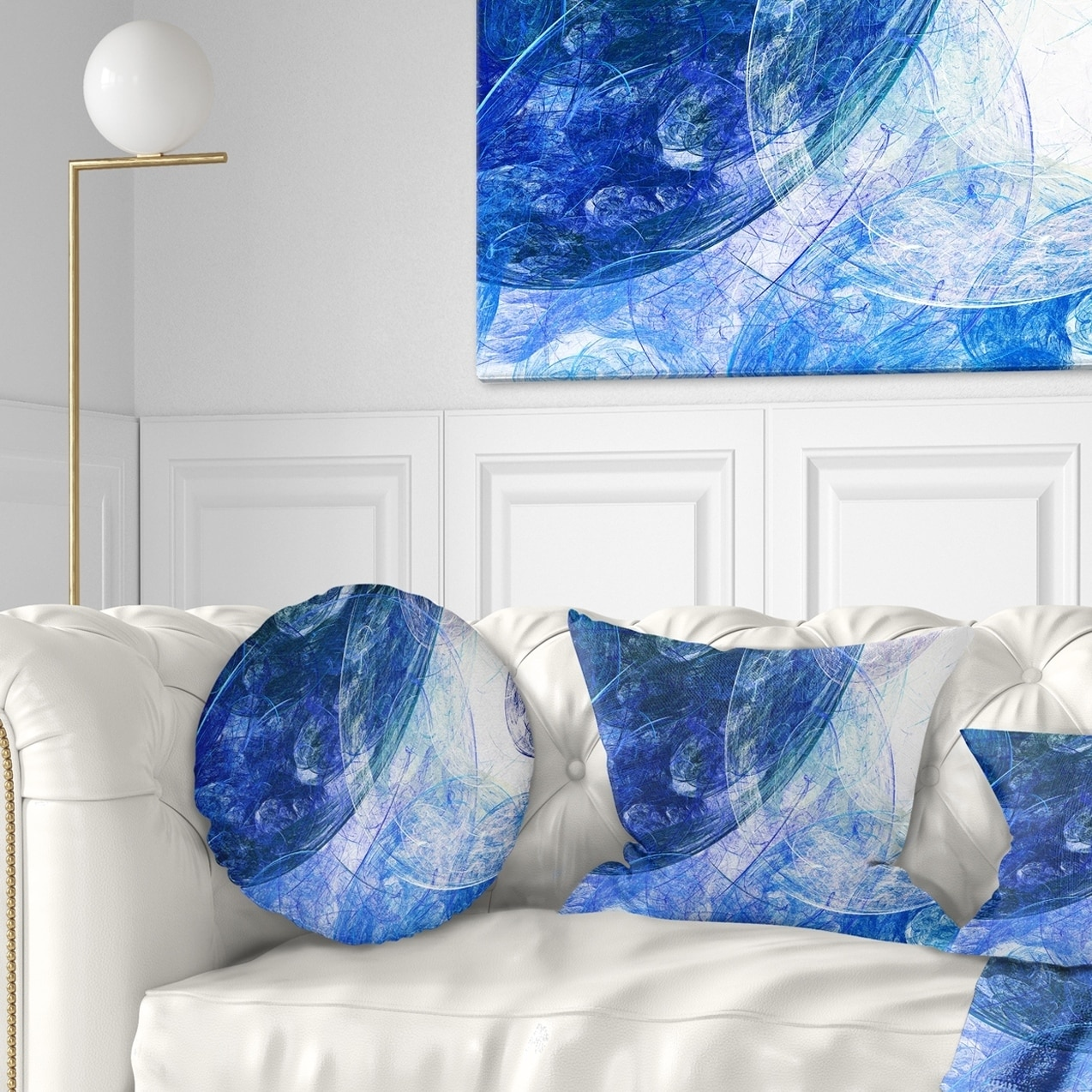 Designart Light Blue Swirling Clouds Abstract Throw Pillow On Sale Overstock 20949991