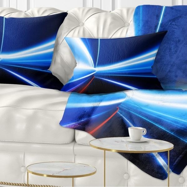 Designart 'Speed on Night Road' Abstract Throw Pillow
