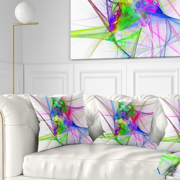 Designart 'Glowing Ball of Smoke' Abstract Throw Pillow