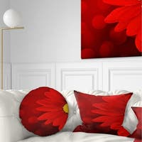 Designart 'Red Flower with Lit up Background' Floral Throw Pillow