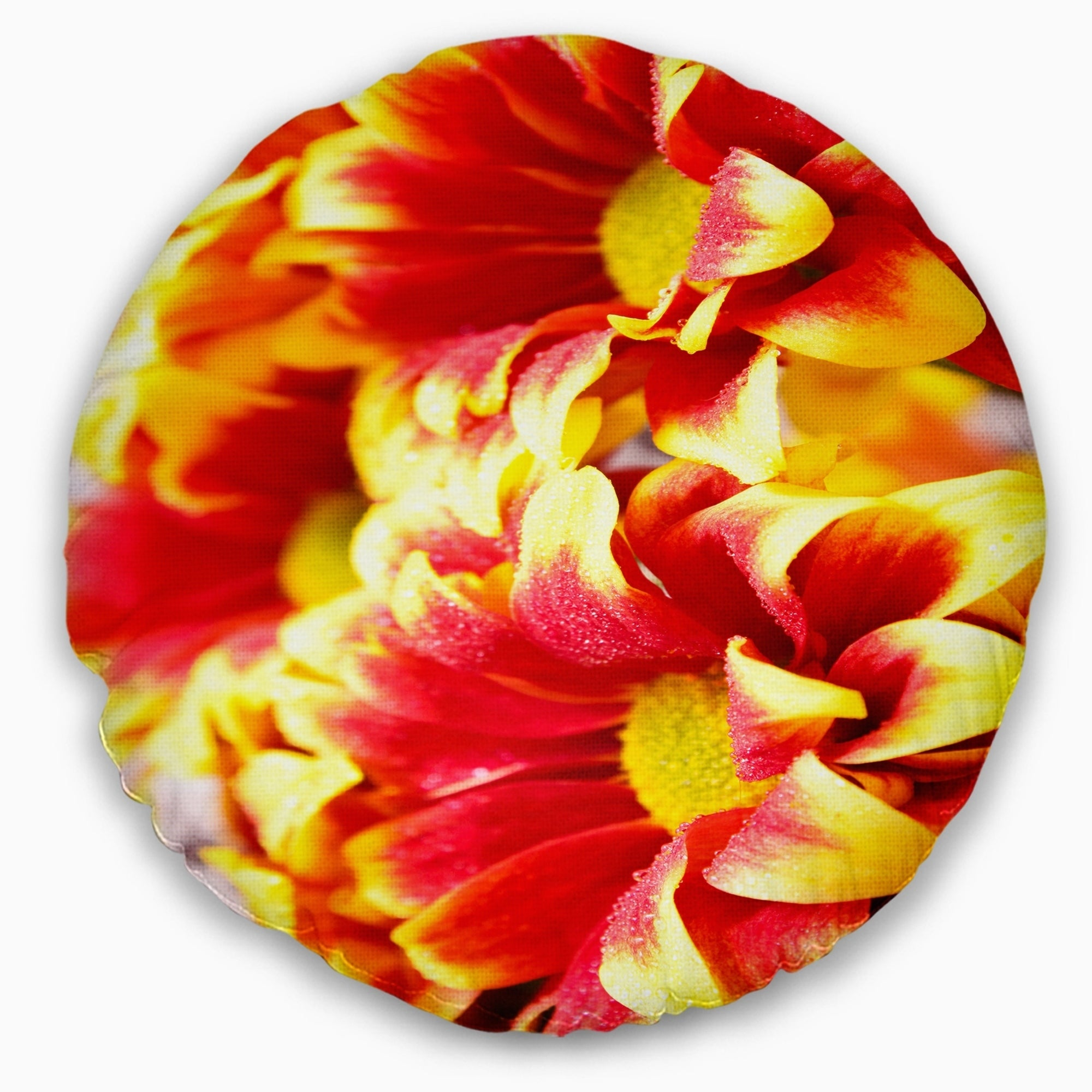 Shop Designart Red Yellow Flower Background Photo Floral Throw