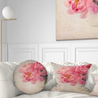 Designart 'Bunch of Colorful Peony Flowers' Floral Throw Pillow (More options available)