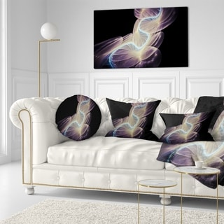 Designart 'Elegant Fantasy Fractal Design' Abstract Throw Pillow