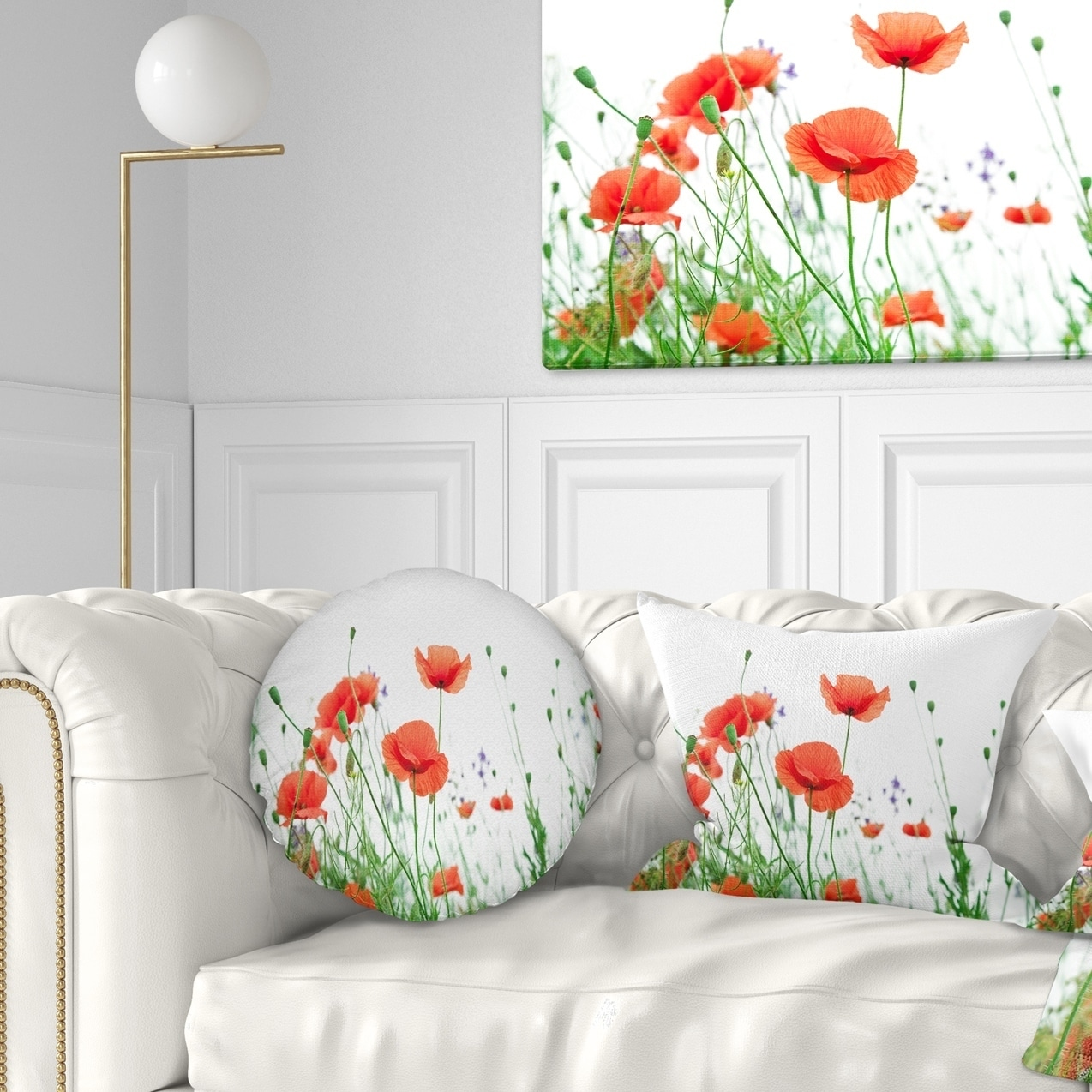 Shop Designart Poppy Flowers On White Background Floral Throw