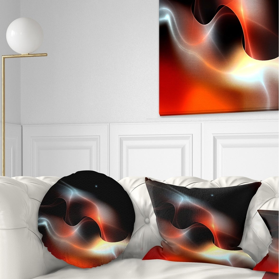 Designart Red Black Abstract Warm Fractal Design Abstract Throw Pillow On Sale Overstock 20950378