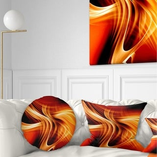 Designart 'Orange Abstract Warm Fractal Design' Abstract Throw Pillow