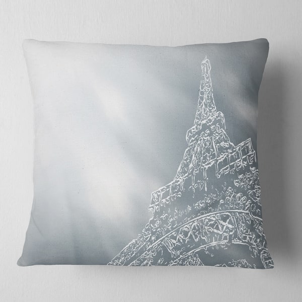 Designart Paris Eiffel Towerart Background Throw Pillow On Sale Overstock 20950752