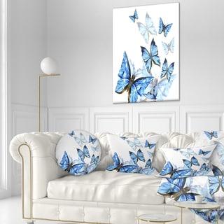 Watercolor Butterfly Wreath 1 Toss Pillow