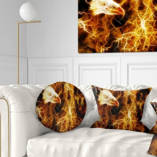 Designart Wolf And Eagle Collage Abstract Throw Pillow Overstock 20950830