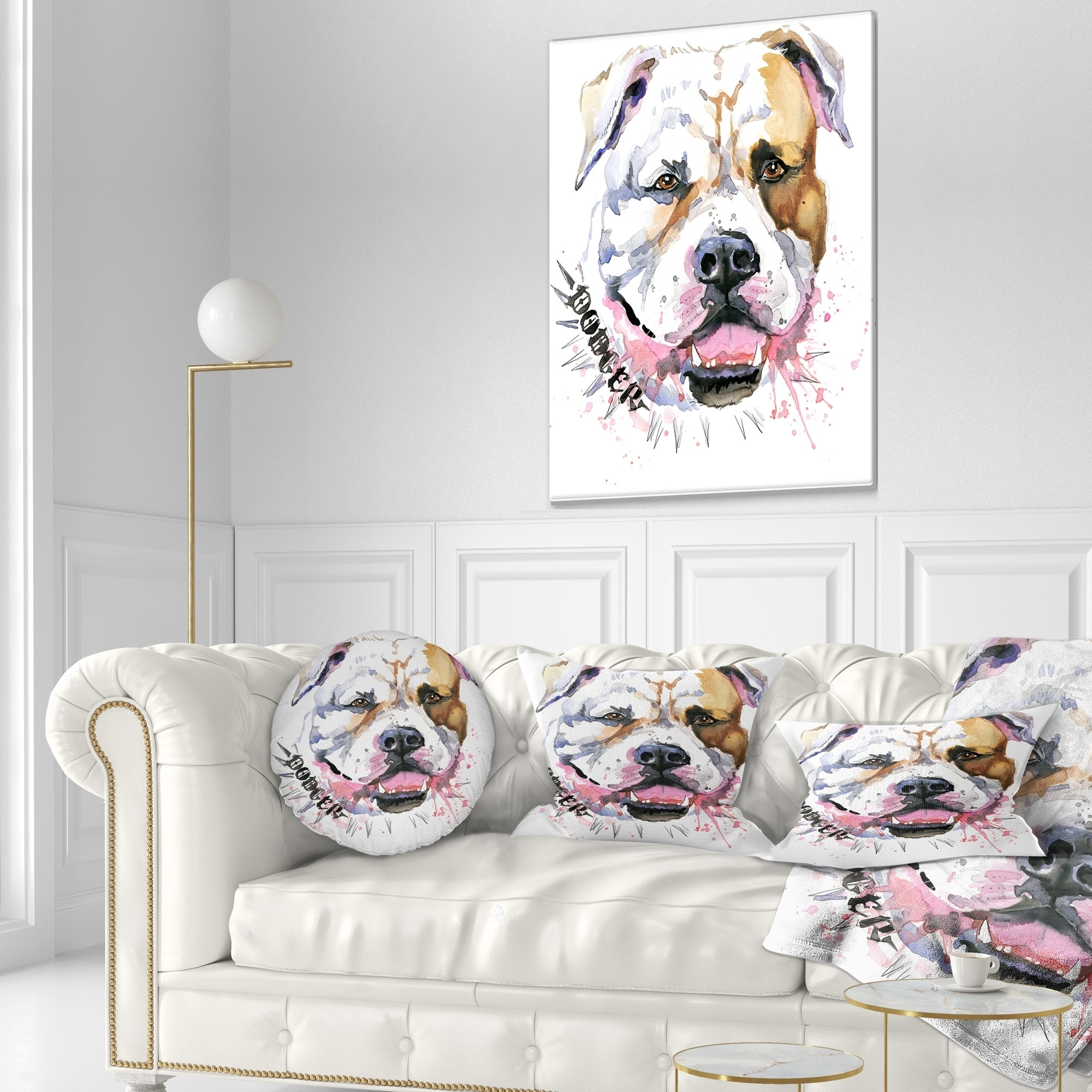 Designart Cute Dog With Open Mouth Animal Throw Pillow On Sale Overstock 20950847