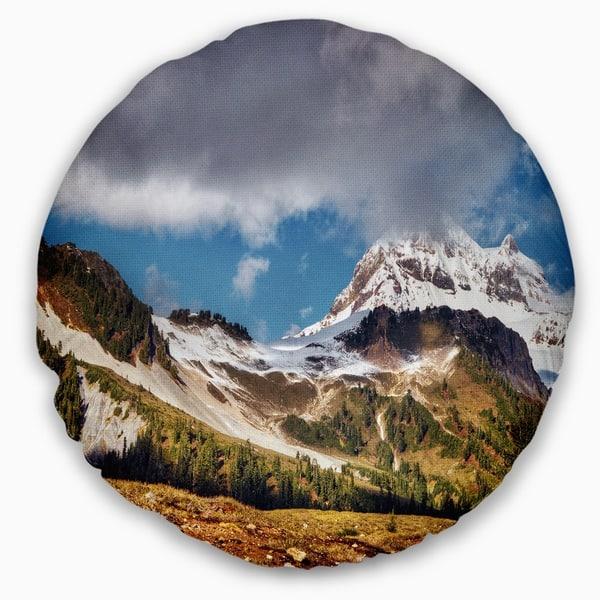 Designart Whistler Mountain British Columbia Throw Pillow On Sale Overstock 20950892