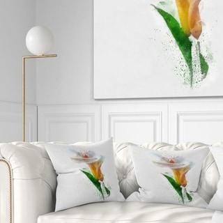 Design Artdesignart Beautiful Flower With Paint Splashes Floral Throw Pillow Square 18 In X 18 In Medium Dailymail